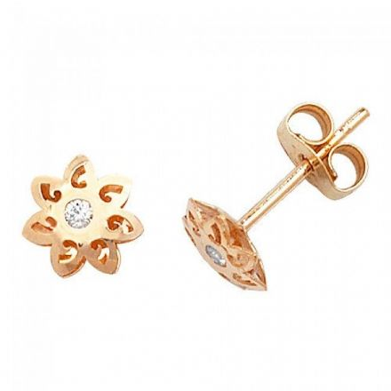 Just Gold Earrings -9Ct Gold Baby Studs, ES318